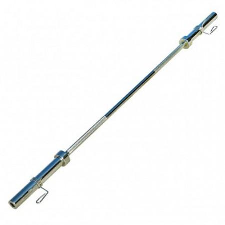 Гриф для штанги прямой 220 см 50 мм, 16,2 кг, нагрузка 250 кг с замками