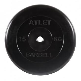 Диски обрезиненные Atlet Barbell для штанги 15 кг 25 мм