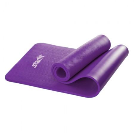 Коврик утолщенный для йоги и фитнеса 10 мм, фиолетовый