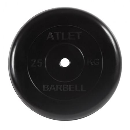 Диски обрезиненные Atlet Barbell для штанги 25 кг 30 мм