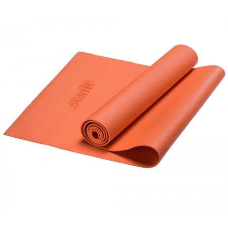 Коврик для йоги 4 мм, оранжевый