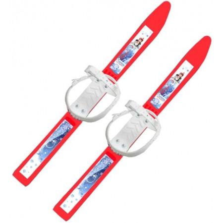 Лыжи детские Олимпик-спорт 66 см с креплениями