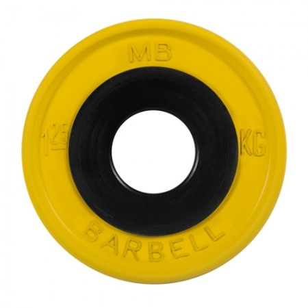 Диски обрезиненные MB Barbell евро-классик 1,25 кг 50 мм, желтый