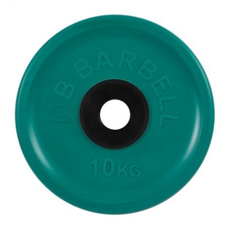 Диски обрезиненные MB Barbell евро-классик 10 кг 50 мм, зеленый