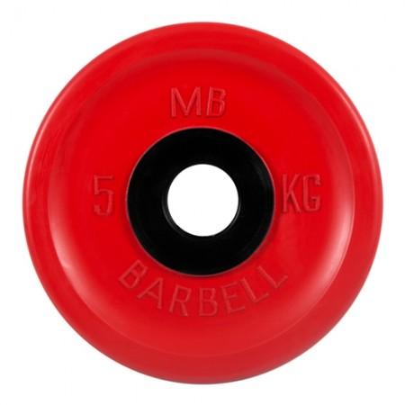 Диски обрезиненные MB Barbell евро-классик 5 кг 50 мм, красный