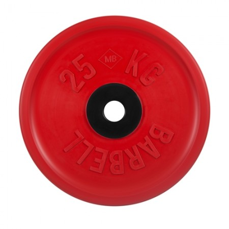 Диски обрезиненные MB Barbell евро-классик 25 кг 50 мм, красный