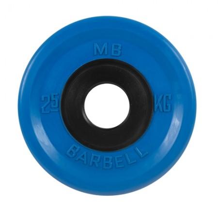 Диски обрезиненные MB Barbell евро-классик 2,5 кг 50 мм, синий