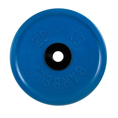 Диски обрезиненные MB Barbell евро-классик 20 кг 50 мм, синий