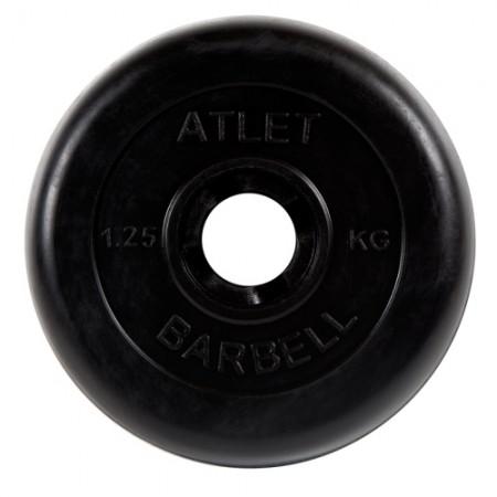 Диски обрезиненные Atlet Barbell для штанги 1,25 кг 30 мм