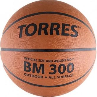 Мяч баскетбольный Torres BM300 Размер 7, мат. резина