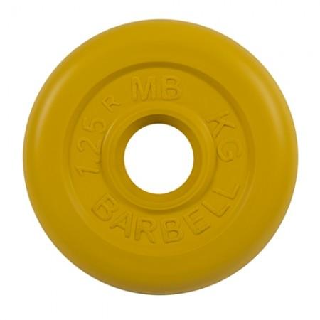 Диски обрезиненные MB Barbell для штанги 1,25 кг 50 мм цветные