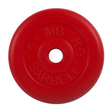 Диски обрезиненные MB Barbell для штанги 5 кг 50 мм цветные