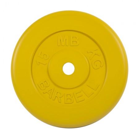 Диски обрезиненные MB Barbell для штанги 15 кг 50 мм цветные