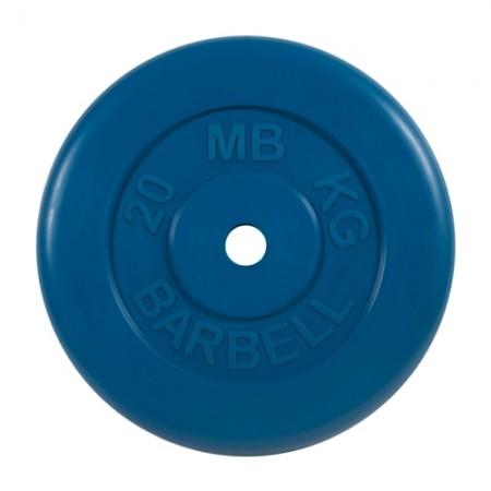 Диски обрезиненные MB Barbell для штанги 20 кг 50 мм цветные