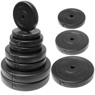 Диск пластиковый для гантели, штанги 2,5 кг 25 мм