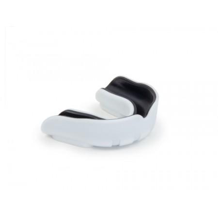 Капа одночелюстная Jabb силиконовая бело-черная