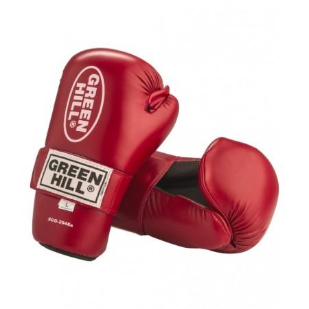 Накладки для тхэквондо Green Hill 7-contact SCG-2048c/а, к/з, красные