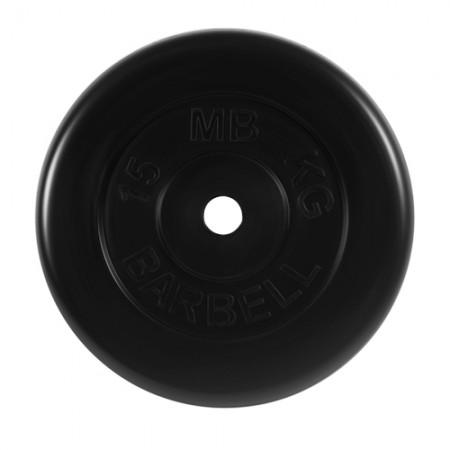 Диски обрезиненные МВ Barbell для штанги 15 кг 30 мм