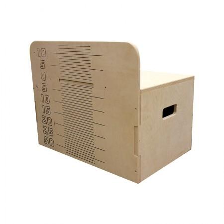 Тумба для измерения гибкости с отрицательной шкалой измерения
