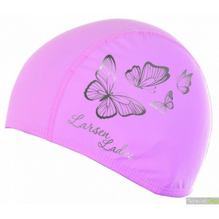 Шапочка для плавания Larsen Butterfly розовая 3059