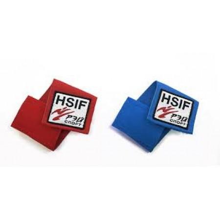 """Фиксатор для пояса Рэй-Спорт """"HSIF"""", красный и синий, 2 шт."""