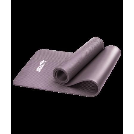 Коврик утолщенный для йоги и фитнеса 10 мм, серый