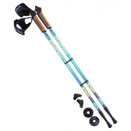 Палки для скандинавской ходьбы BERGER с пробковой ручкой 77-135 см