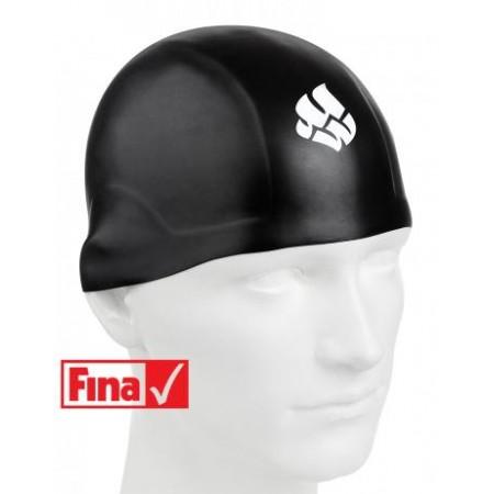 Шапочка для плавания MadWave R-CAP FINA  Approved, black