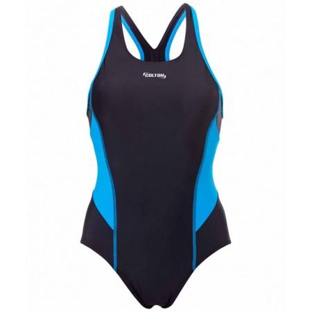 Купальник для плавания совместный Colton SC-3901 Delicate, черный/синий, 42-50