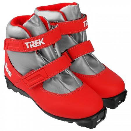 Лыжные ботинки детские TREK Kids на подошве NNN, красный