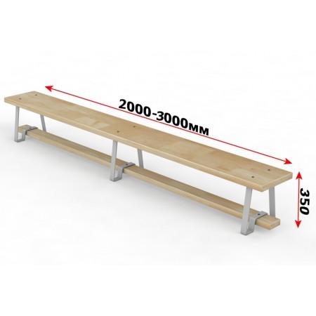 Скамейка гимнастическая с металлическими ножками