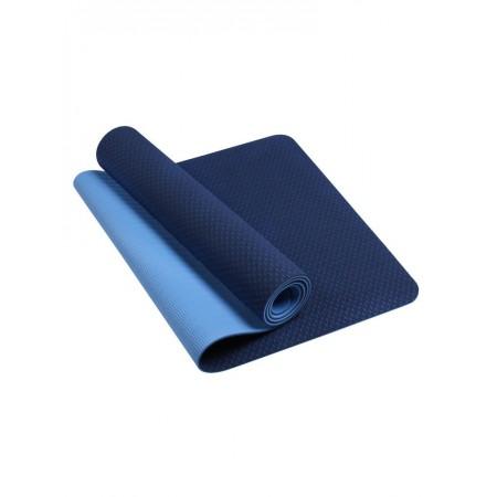 Коврик для йоги и фитнеса 6 мм TPE, синий