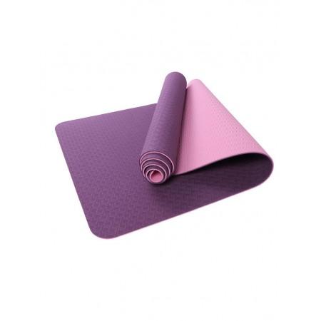 Коврик для йоги и фитнеса 6 мм TPE, фиолетовый