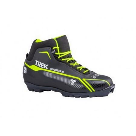 Лыжные ботинки TREK SPORTIKS на подошве SNS, лайм неон (New)
